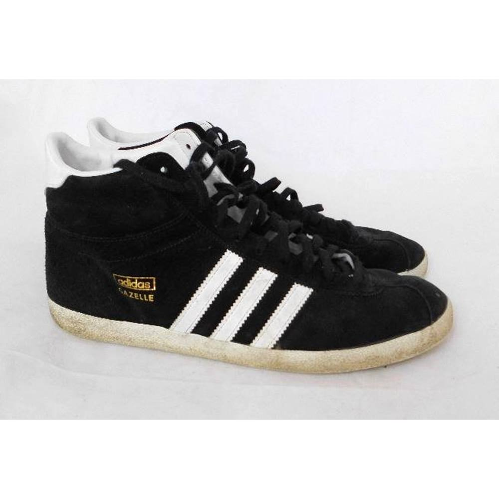 huge selection of aa199 f56c3 Adidas - Size 7.5 black Gazelle Hi-Top suede trainers
