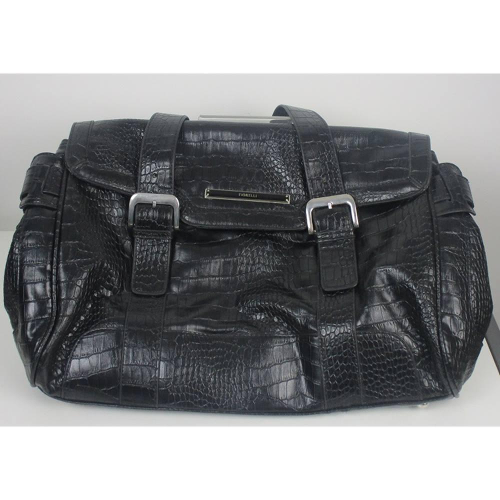 Fiorelli Black Leather Handbag Size L Loading Zoom