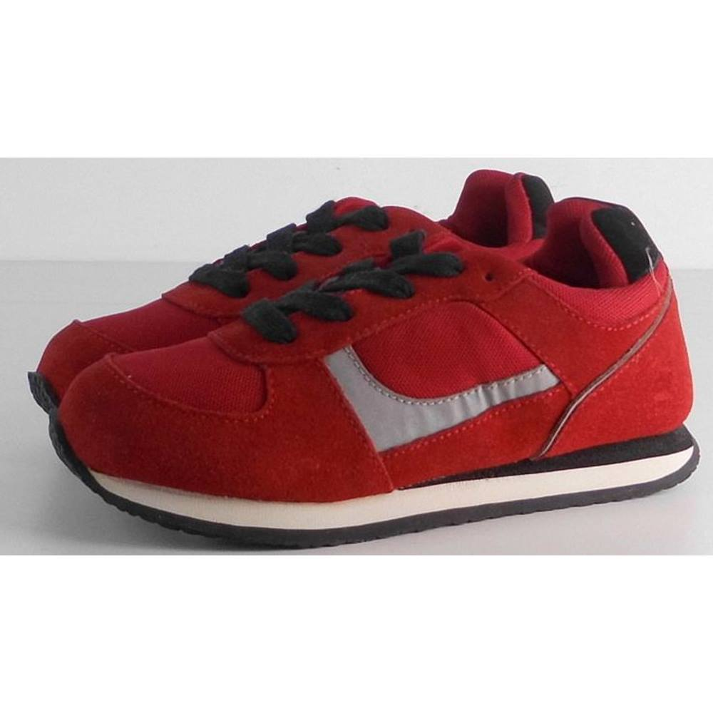 0ecc0aaaecf NWOT Marks   Spencer Kids Red Trainers Size 12. Loading zoom