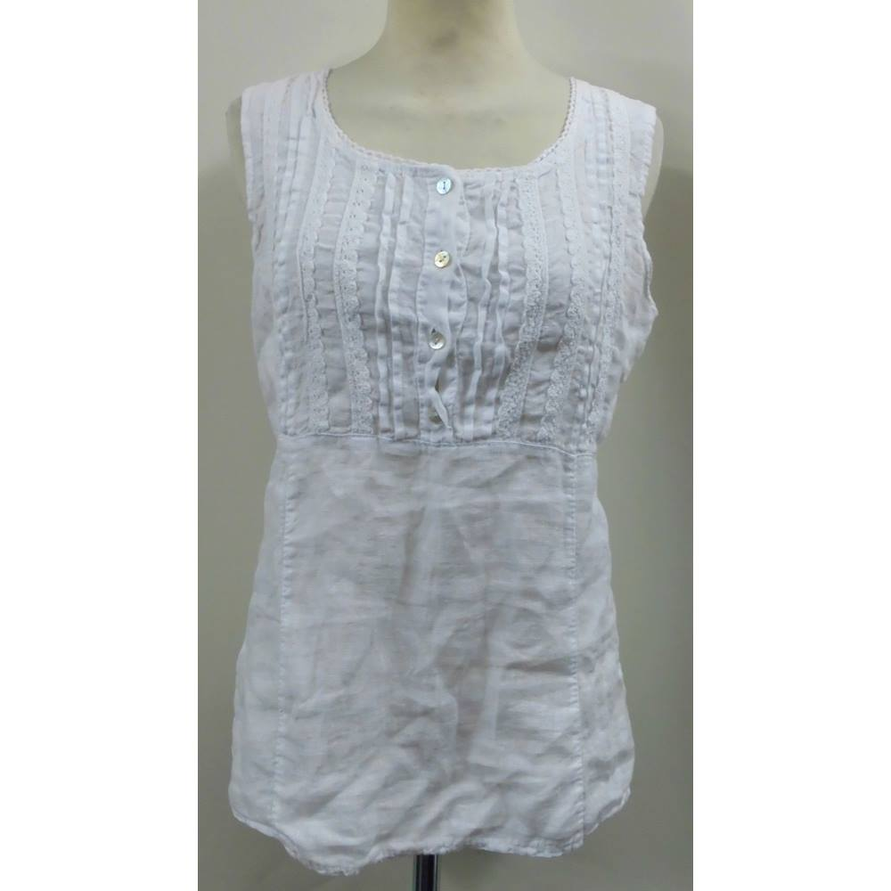 3e181dbab1 Top Lina Tomei - Size  S - White - Vest