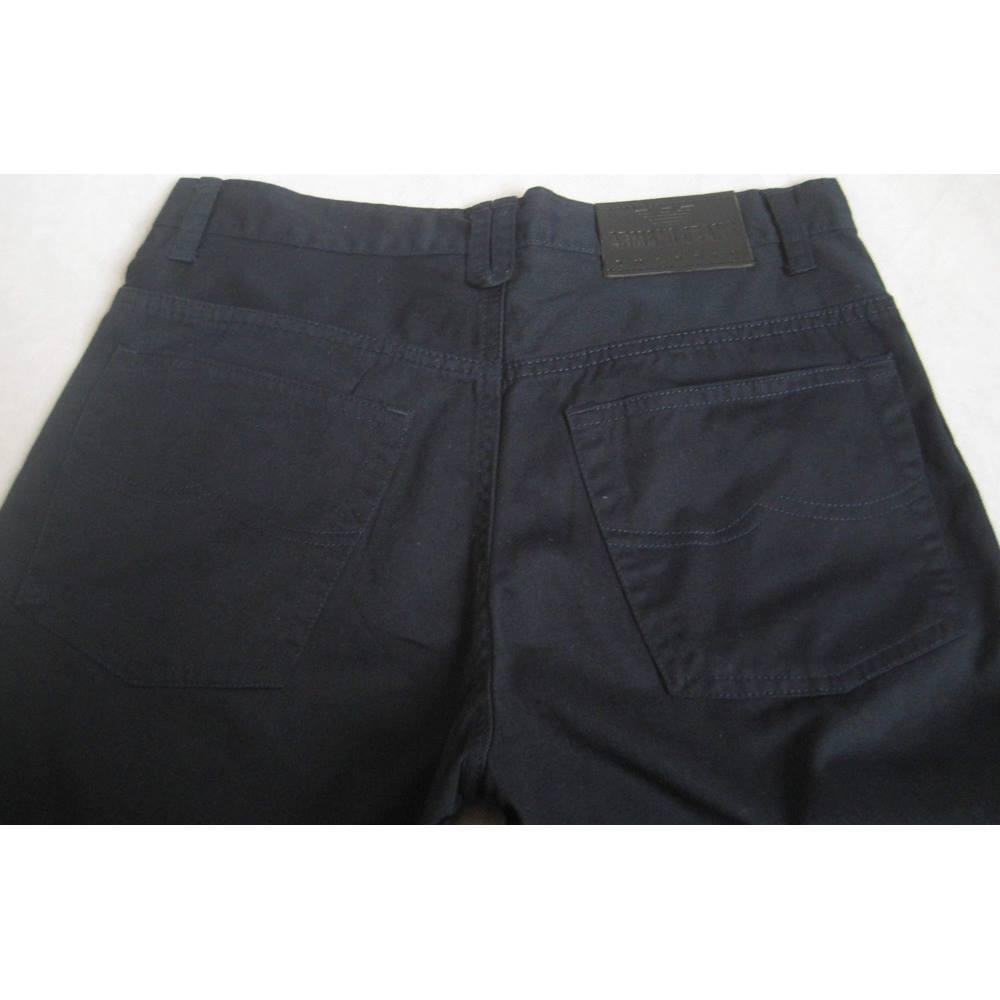 53b409ea87 Emporio Armani navy lightweight cotton jeans size W31 Emporio Armani ...