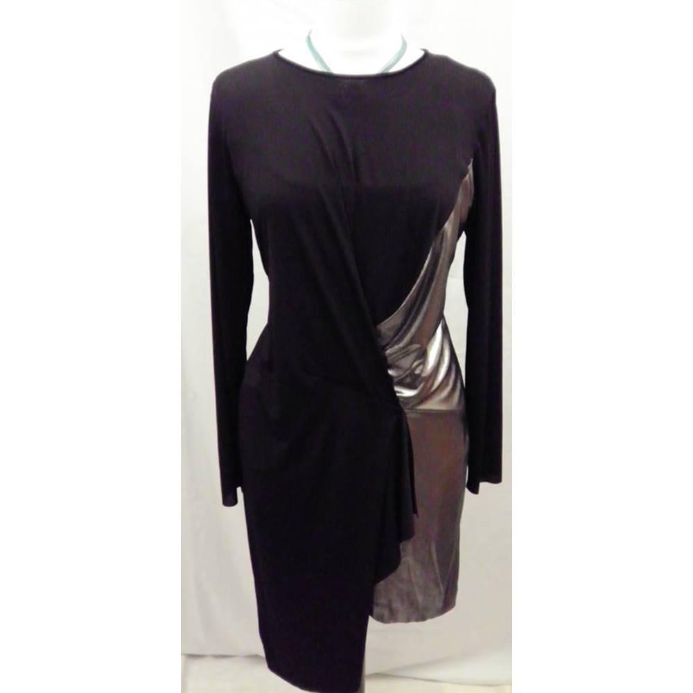 c8b24cd2 BNWT Zara Size XL Black with Metallic Segment Dress | Oxfam GB ...