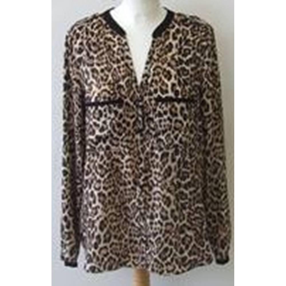 11db4e88 Zara size: M leopard print blouse   Oxfam GB   Oxfam's Online Shop