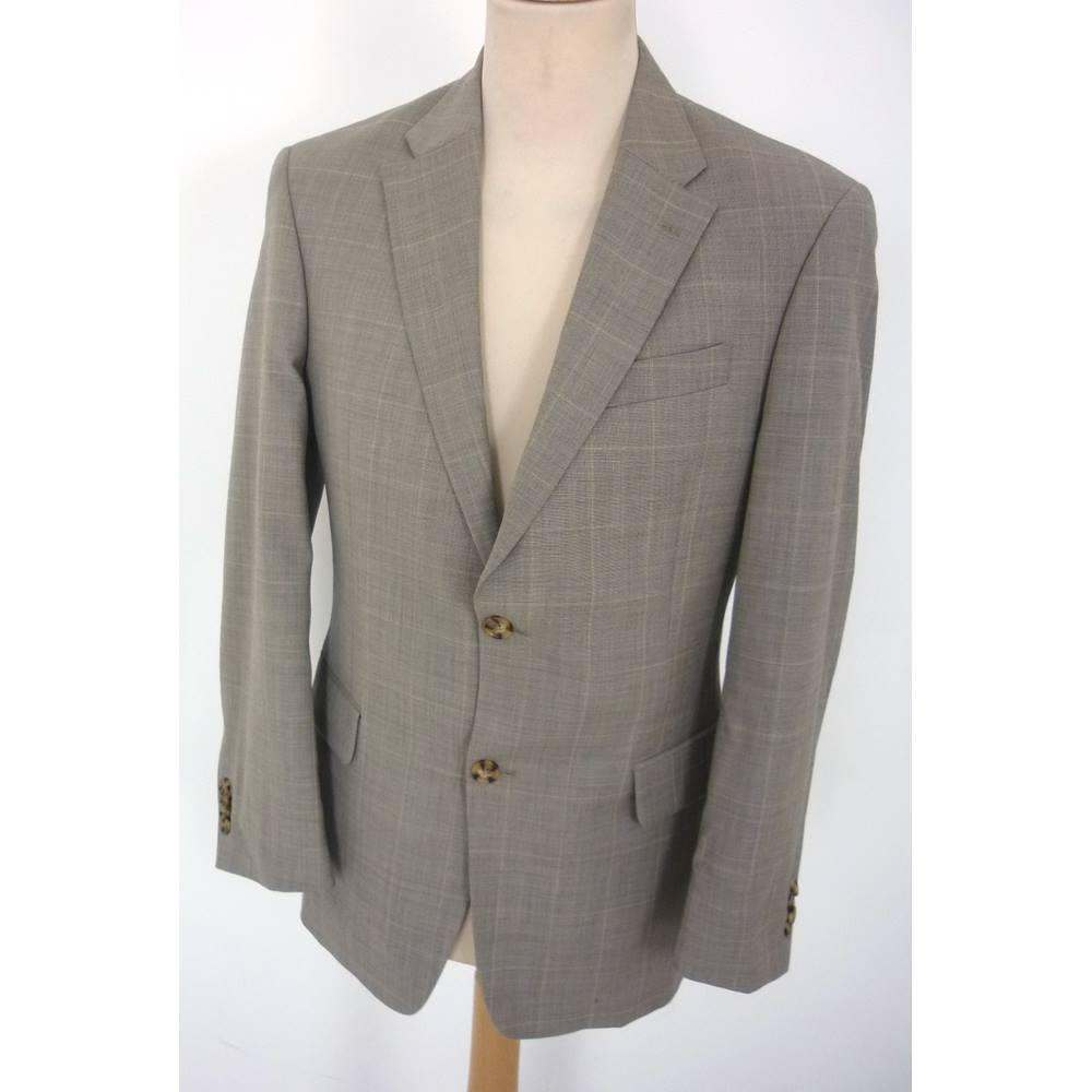 Tommy Hilfiger Size M 38 Chest Tailored Fit Grey With Silver Jacket Twin Buttons Window Loading Zoom