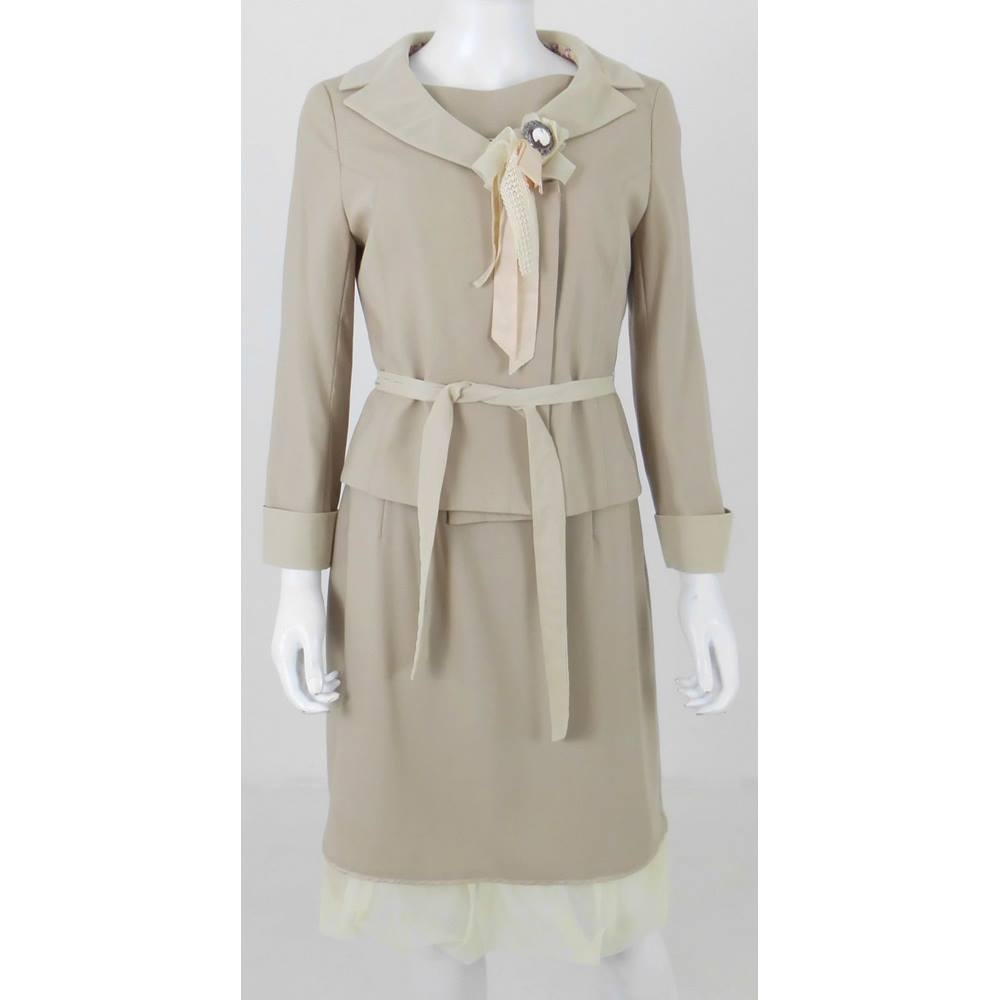 Jesire Size  8 Camel Brown Jacket and Dress  3ee2af39c