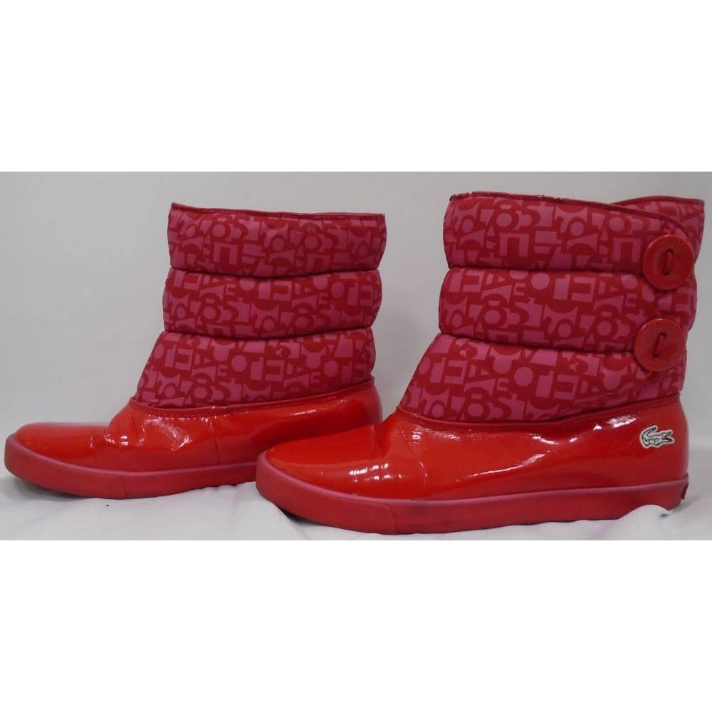d75c140b5 Women lacoste red winter boots size lacoste size red boots loading zoom jpg  1000x1000 Lacoste winter
