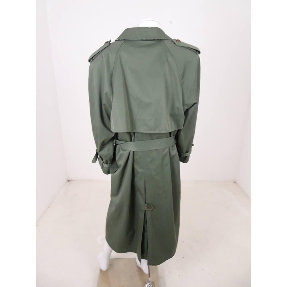 c6d038b76 NuAge at Debenhams Size  22 Khaki Green Trench Coat