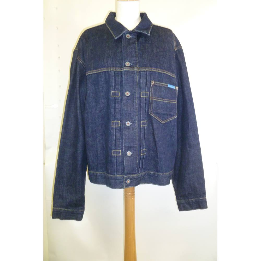 4f57c737822b Ted Baker Size XL (Ted Baker size 5) Dark Blue Jean Jacket. Loading zoom.  Rollover to zoom