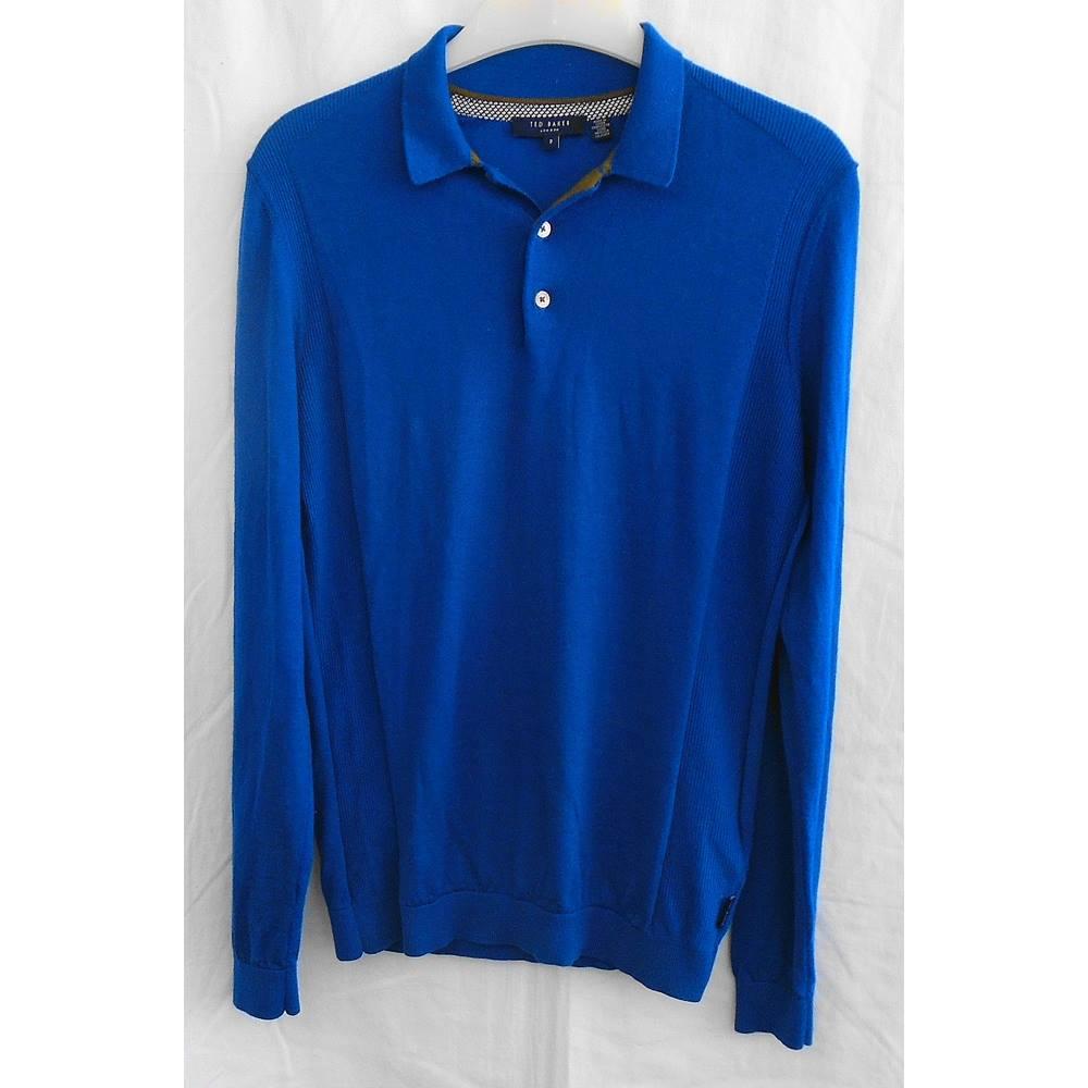 5e067554349c97 Ted Baker blue wool jumper Size S M. Loading zoom