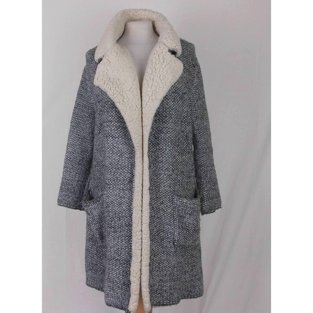 11daffa8 Zara Knit - Size: S - Grey - Casual jacket / coat | Oxfam GB | Oxfam's ...