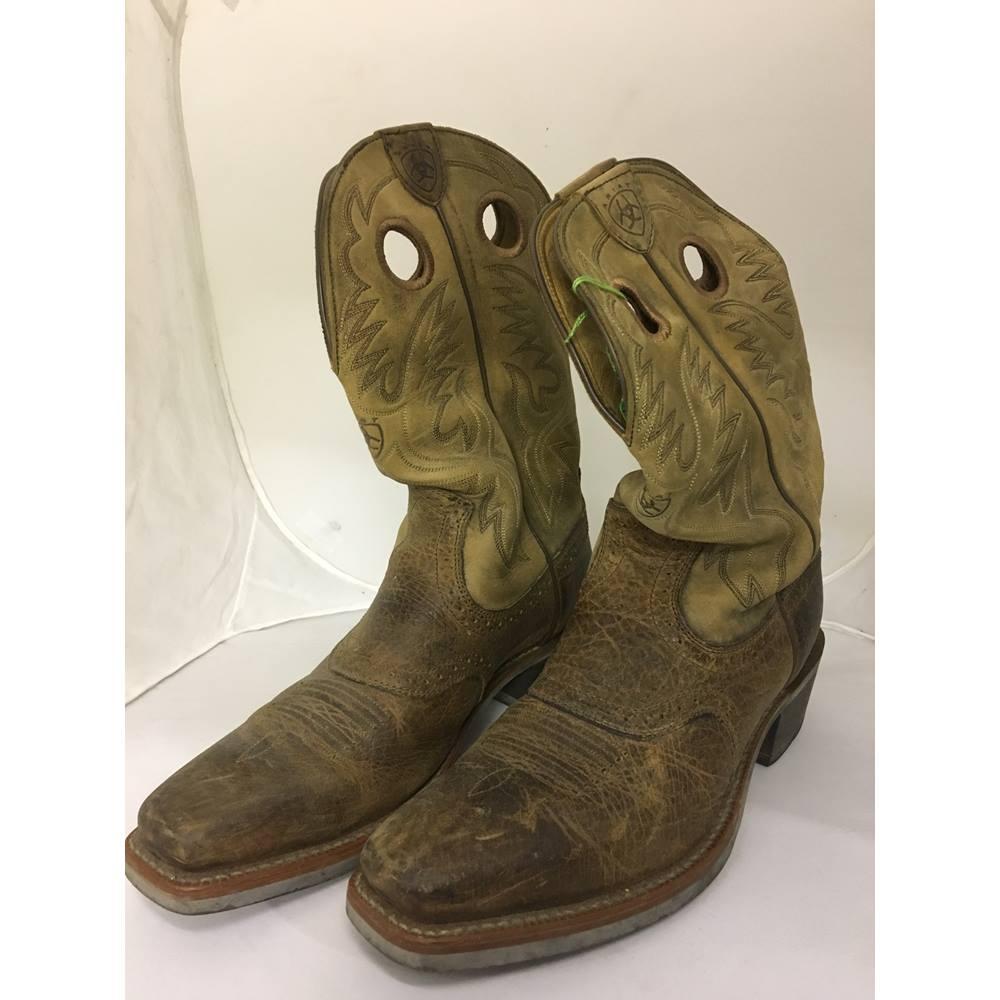 6ebe9197785 Ariat leather Cowboy Boots - Size: 10 - Brown - Cowboy boots | Oxfam GB |  Oxfam's Online Shop