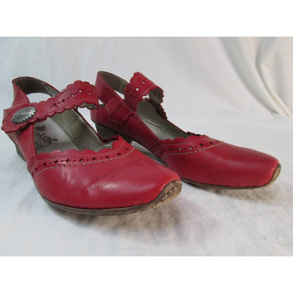 6f986490e7965 Riker Size: 40 Red Heeled shoes | Oxfam GB | Oxfam's Online Shop