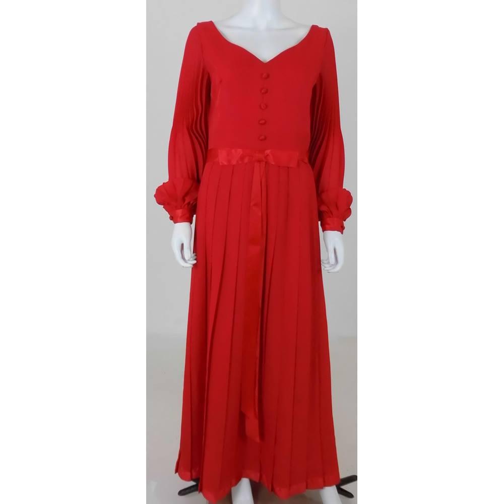 Montigo Bay Size 14 Scarlet Red Vintage Evening Gown Oxfam Gb
