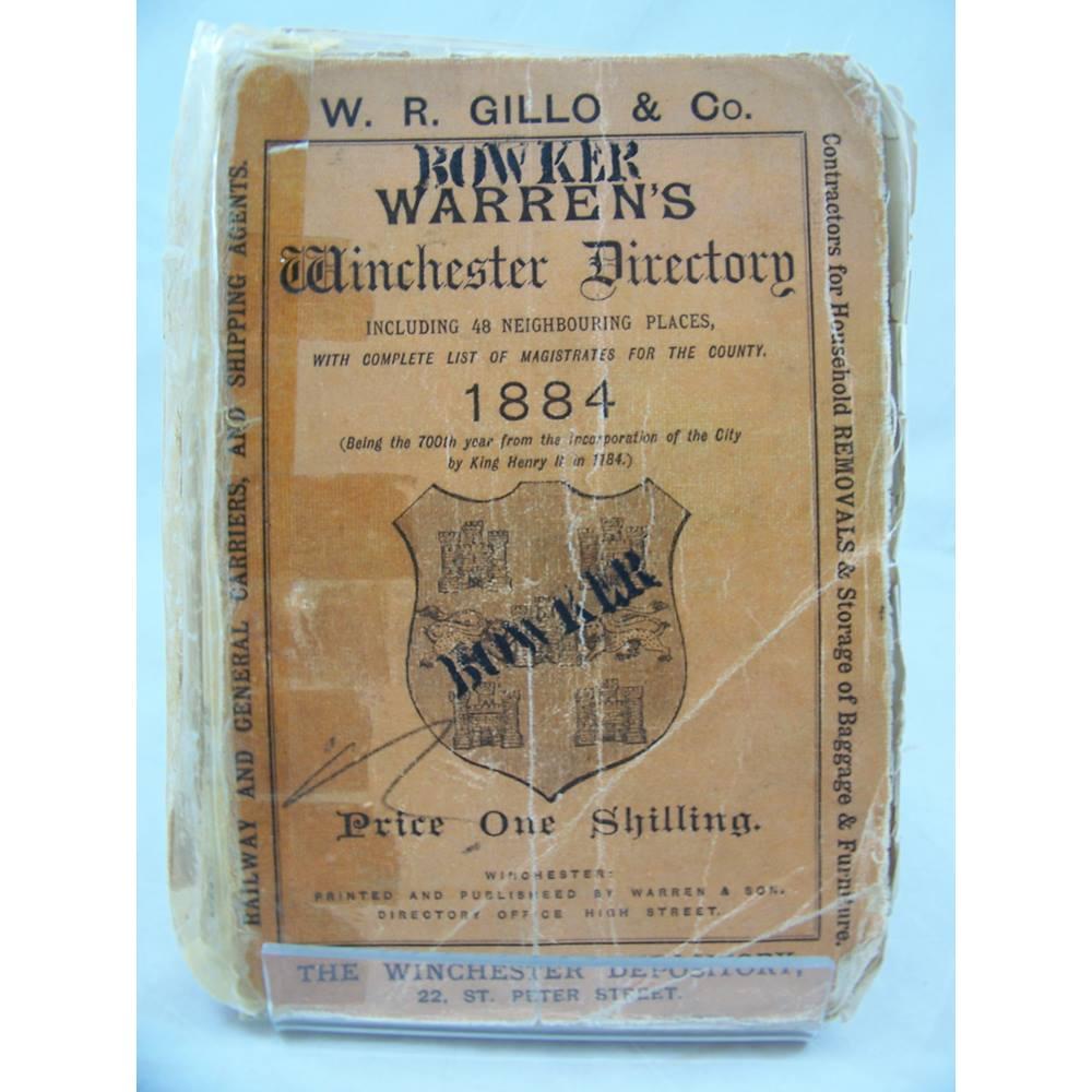 Warren's Winchester Directory 1884 | Oxfam GB | Oxfam's Online Shop
