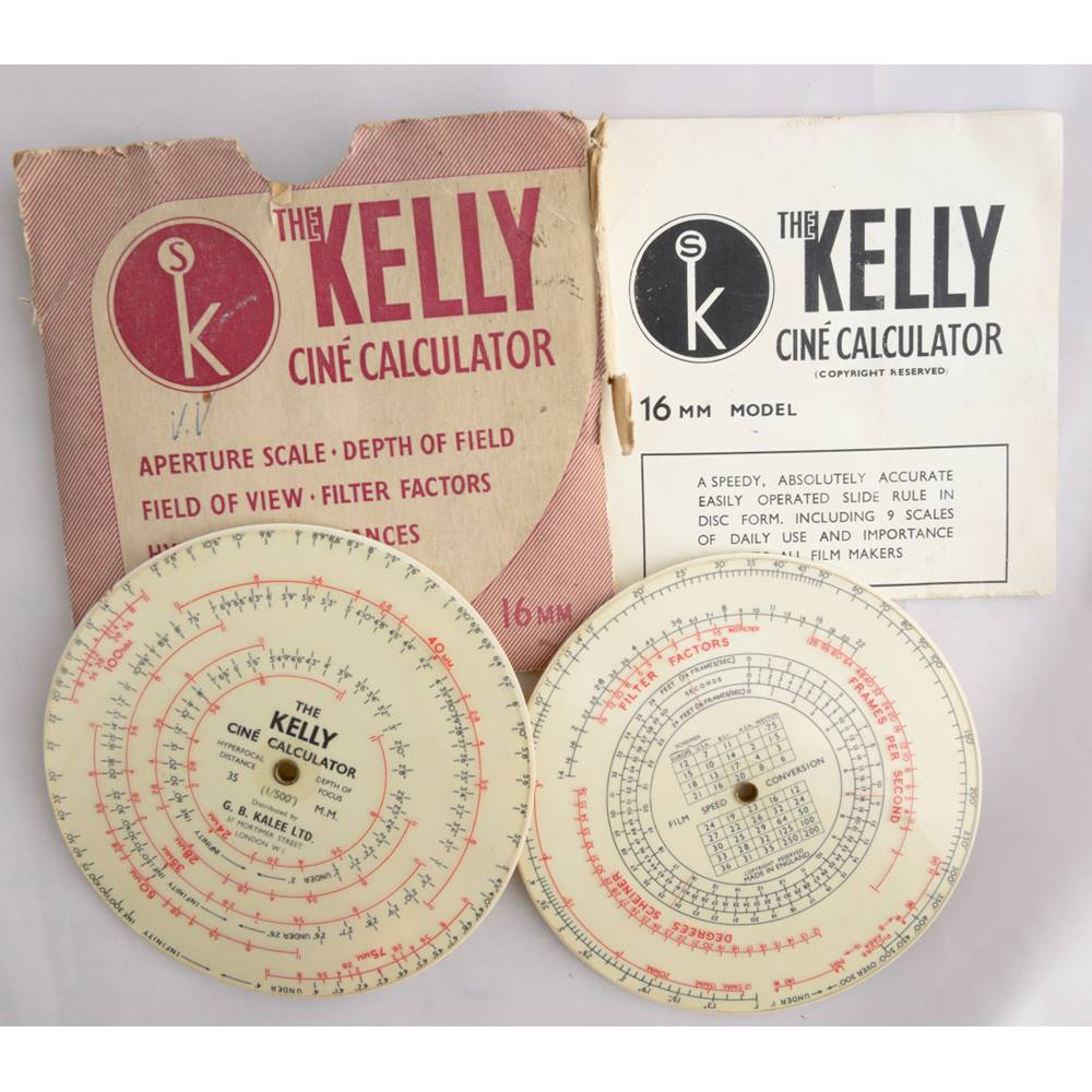 Vintage Kelly Cine Calculator  8mm, 16mm and 35mm  | Oxfam GB | Oxfam's  Online Shop