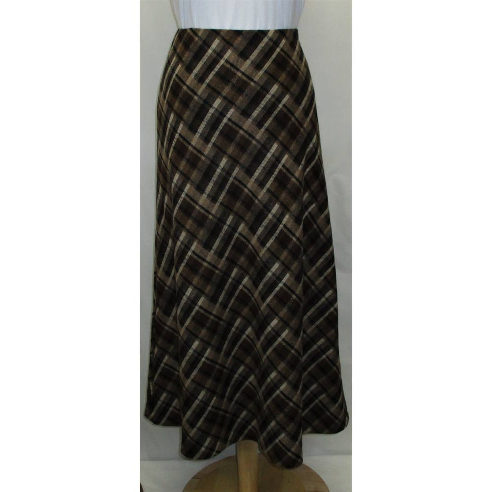 Hobbs Skirt Size 12 Hobbs - Size: 12 - Brown - A-line skirt for sale  Dalkeith