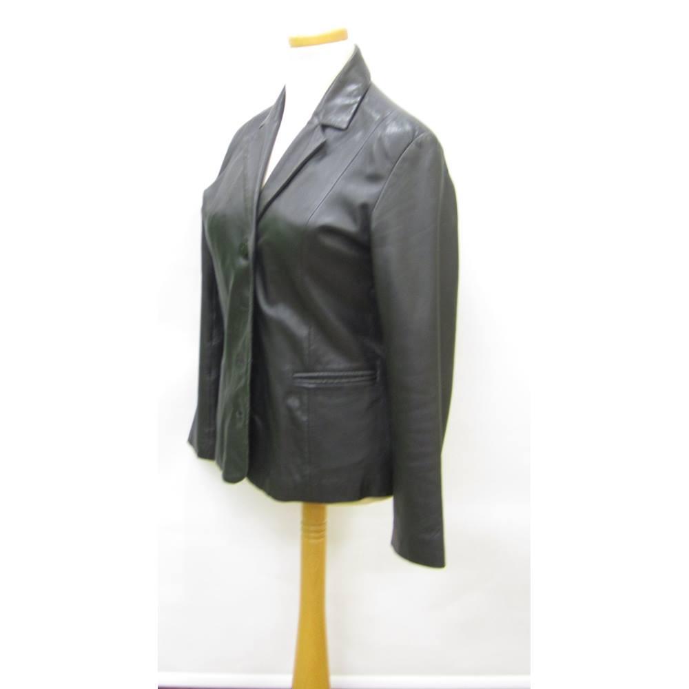 bf1e8a33f hElium - Size: 18 - Black - Leather Jacket | Oxfam GB | Oxfam's Online Shop