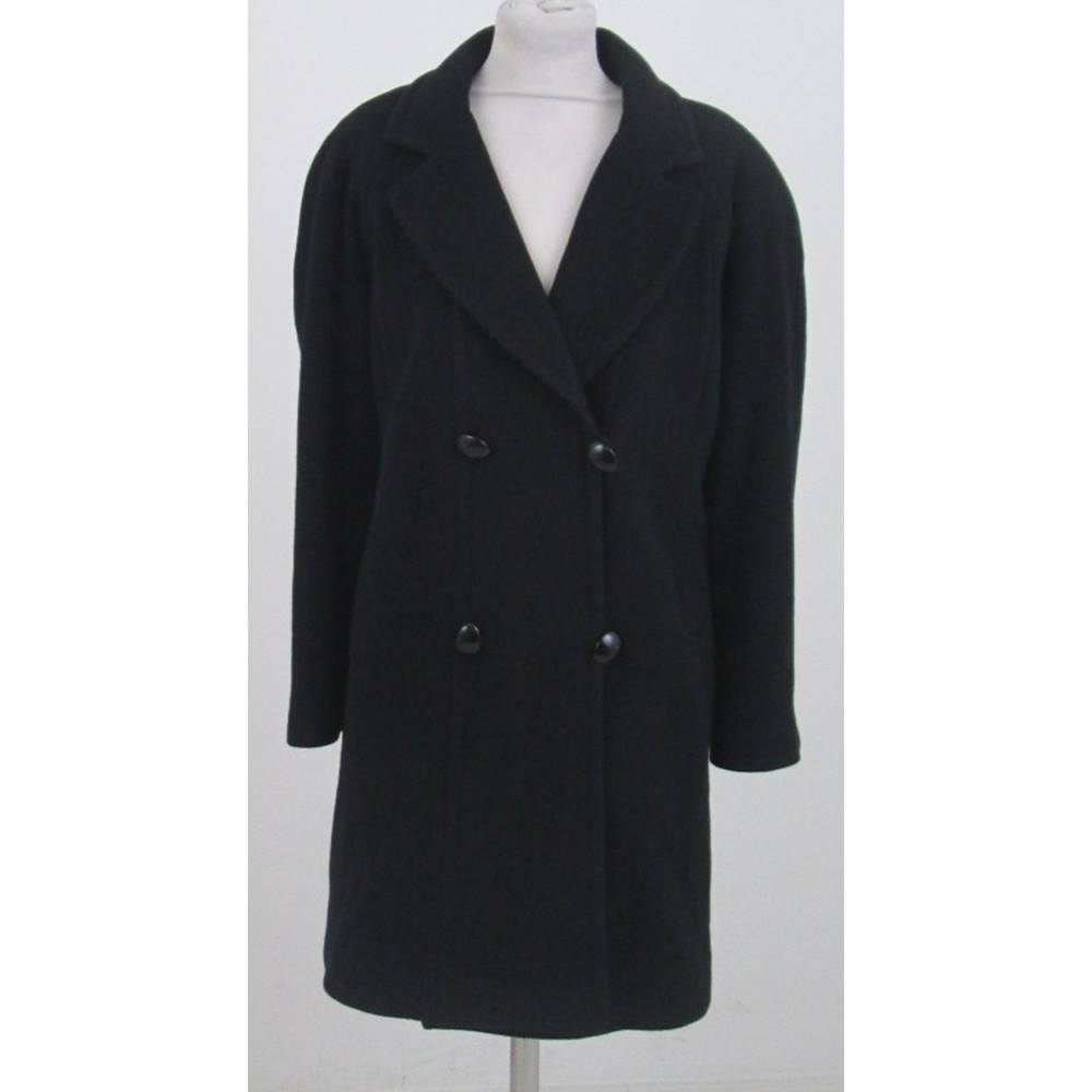 fa3061bdb Jacques Vert  Size 12  Black double breasted coat