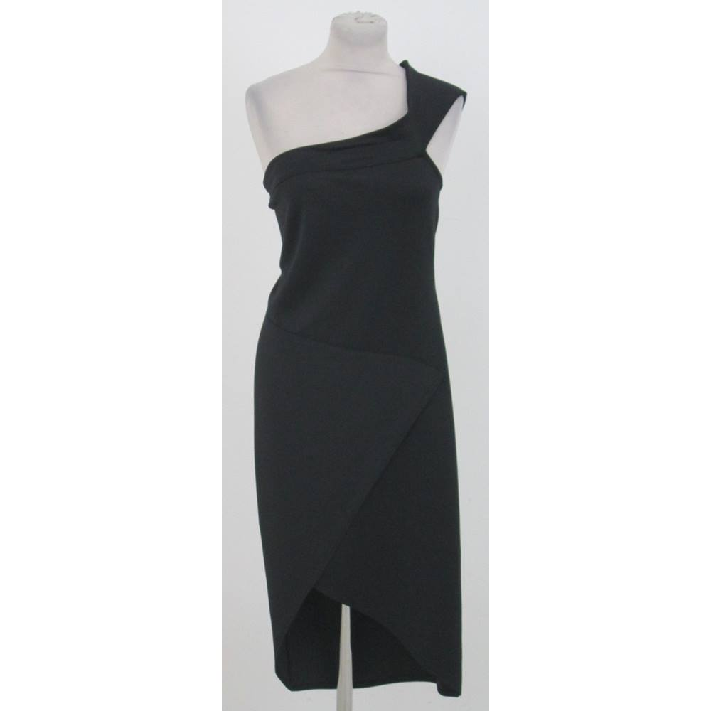 4502814be5a Boohoo Plus Jess size 18 black wrap dress