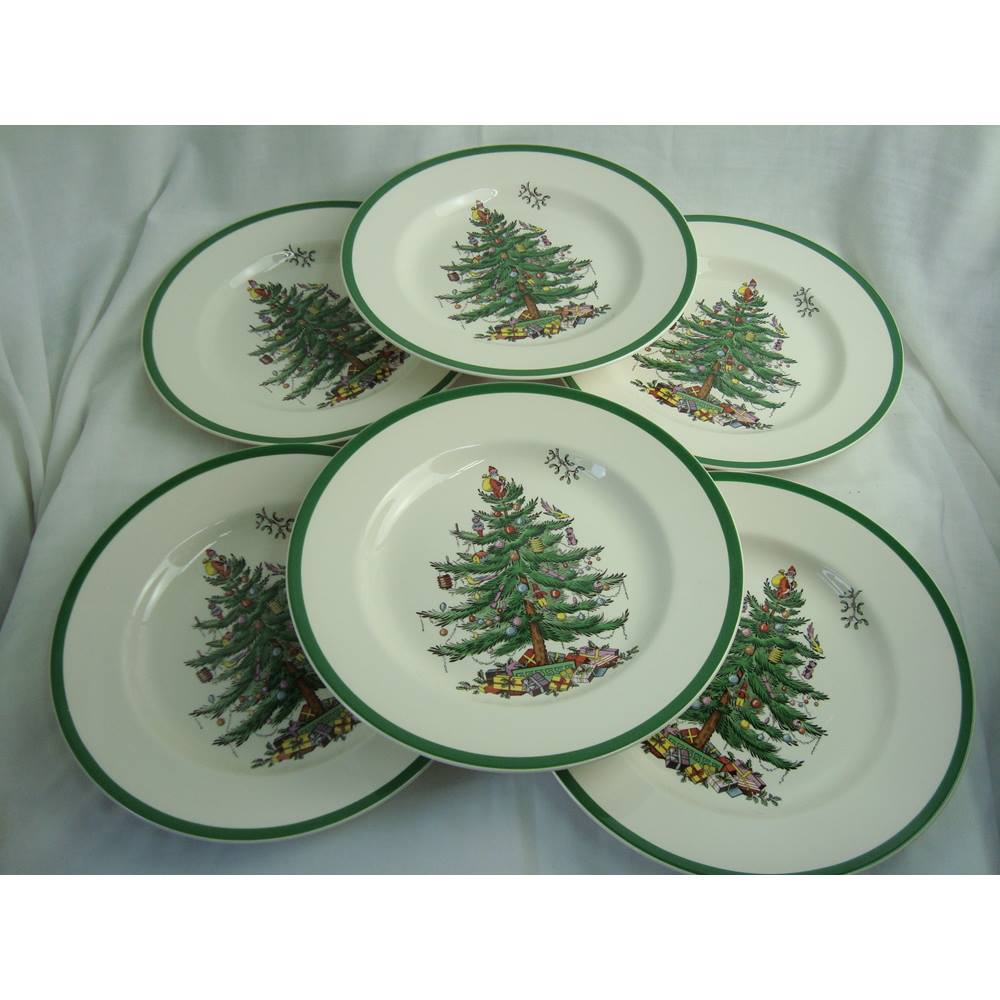Spode Christmas Plates.Spode Christmas Tree 10 5
