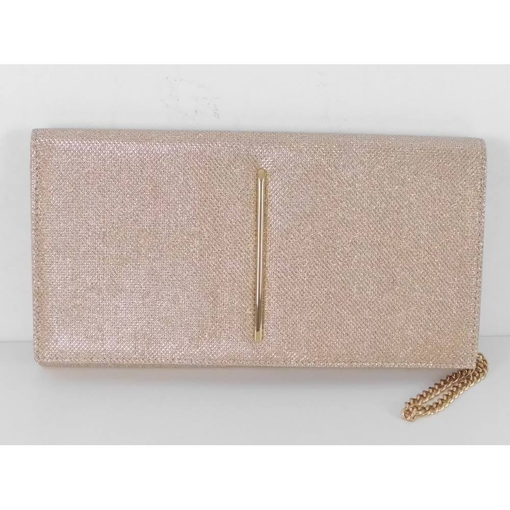 e2b1997188e M S Marks   Spencer Size  One size Gold Metallic Clutch Bag. Loading zoom