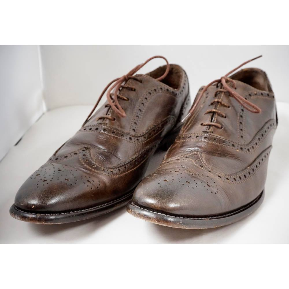 2f480d70e6f02 Paul Smith, size 9 dark brown leather brogues   Oxfam GB   Oxfam's Online  Shop
