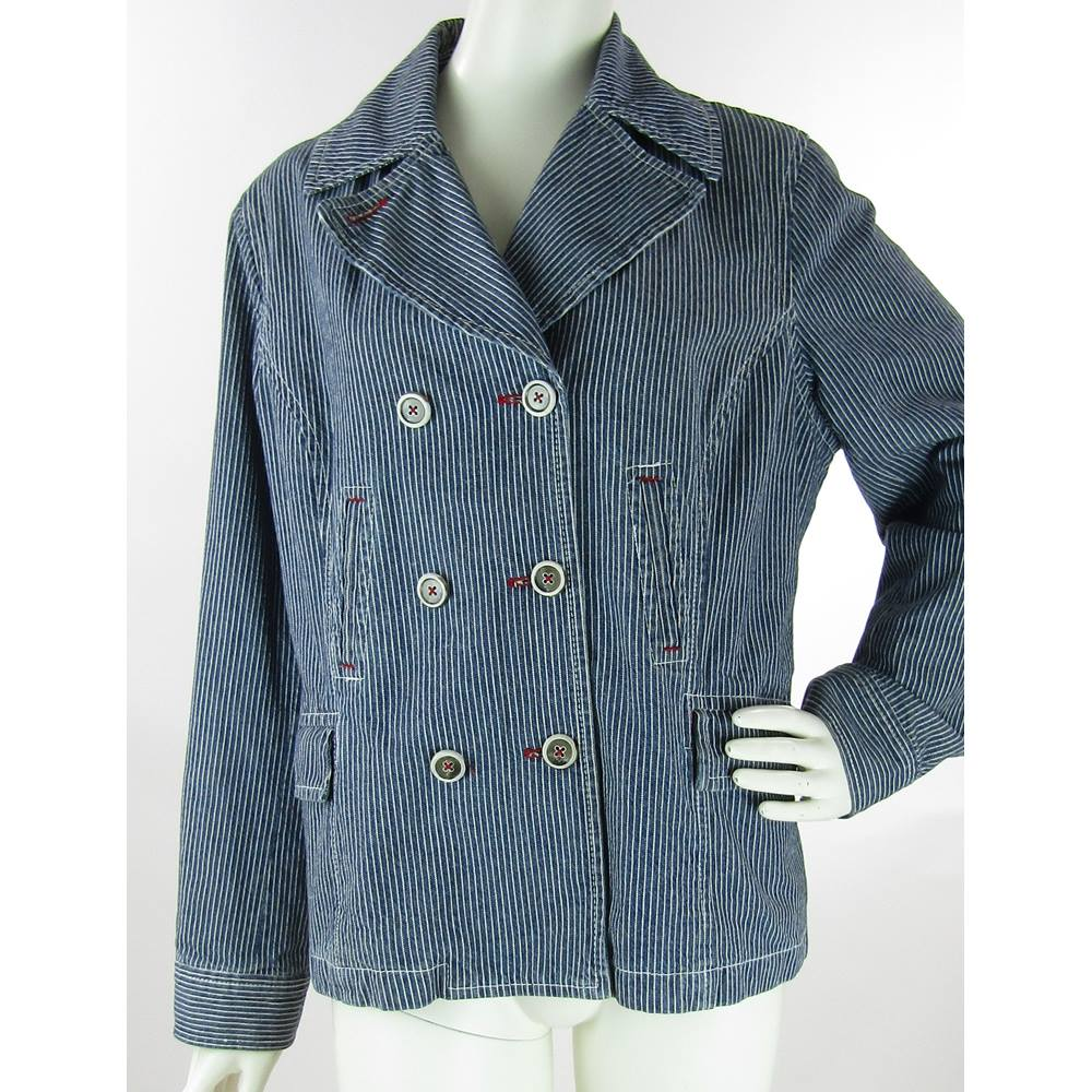 3676c676f52 Boden - Size  18 - Navy Blue White - Casual jacket   coat For Sale in ...