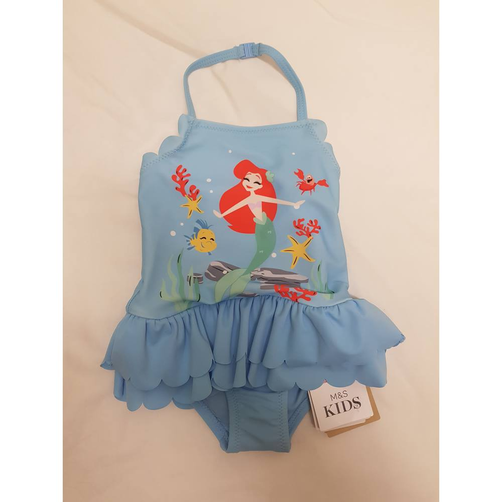 796bf3bfd2 Little Mermaid Swimsuit M&S Marks & Spencer - Size: 3-6 months - Blue.  Loading zoom