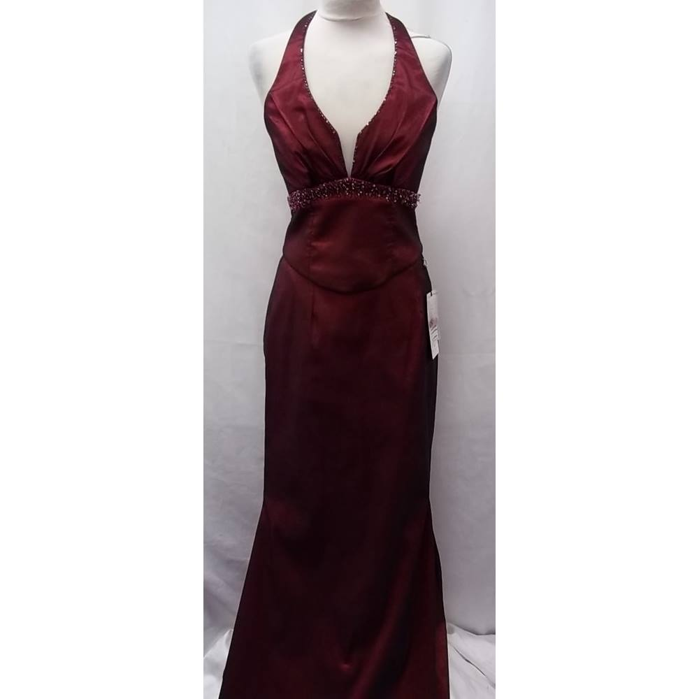 0b9736810e ... superb gown is from Dynasty London's collection. It is brand new with  tags. It consist of an halter top embellished with beads and sequins and a  long ...