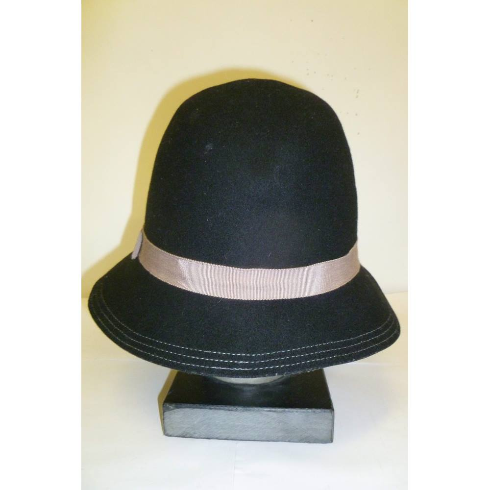 46a534cc11aa7 Oasis Fedora Style 100% Wool Black Hat
