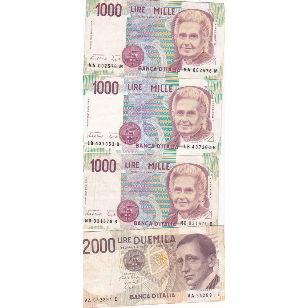 4 X Banca Ditalia Bank Notes Oxfam Gb Oxfams Online Shop