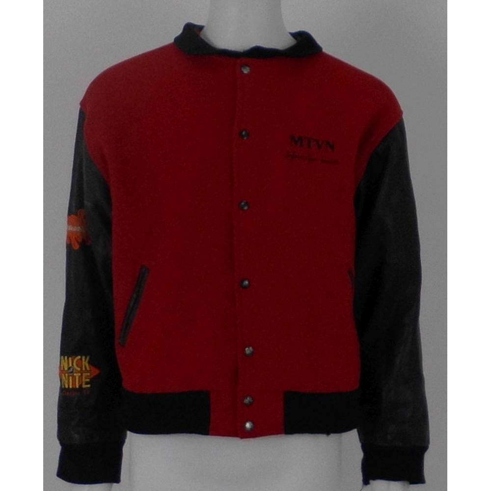MTV Nickelodeon Size L Red & Black Bomber Jacket | Oxfam GB | Oxfam's  Online Shop