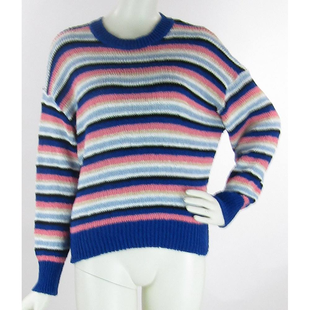 BNWOT M&S Collection - Size: S - Multi-coloured Striped - Round Neck  Recycled Yarn Jumper   Oxfam GB   Oxfam's Online Shop