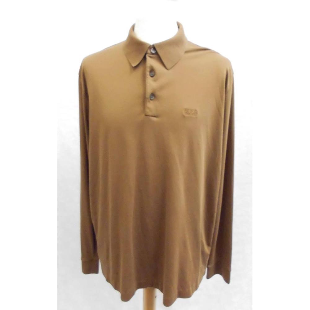47da4a0ba Hugo Boss - Size: XL - Brown - Long sleeved T-shirt   Oxfam GB ...