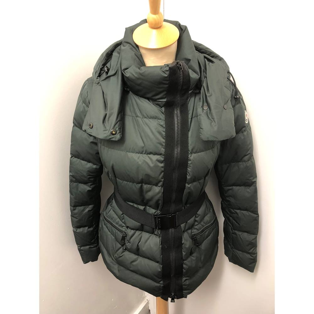 6f1002284a6 Moncler Down Quilted Jacket in Dark Green size 1 ( UK 10)