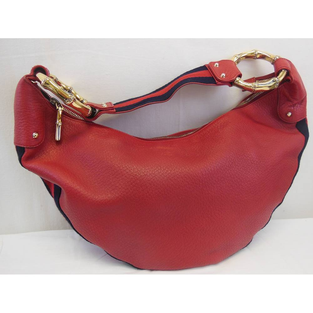 ee8c762ab99d70 Gucci red leather half moon handbag Gucci - Size: One size - Red ...