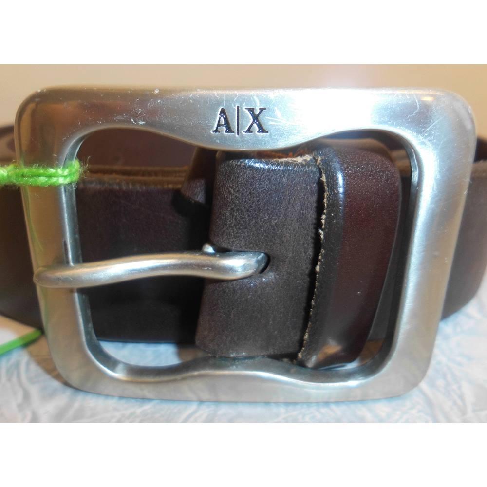 25582824 Vintage Armani Exchange Mens Brown Leather Belt - 32 Inch | Oxfam GB |  Oxfam's Online Shop