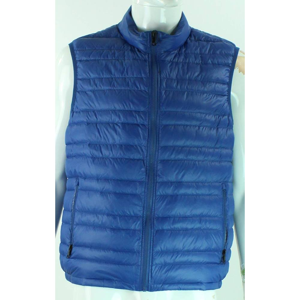 2eb2c9347f5 M&S Marks & Spencer - Size: L - Cobalt Blue - Down & Feather Gilet. Loading  zoom