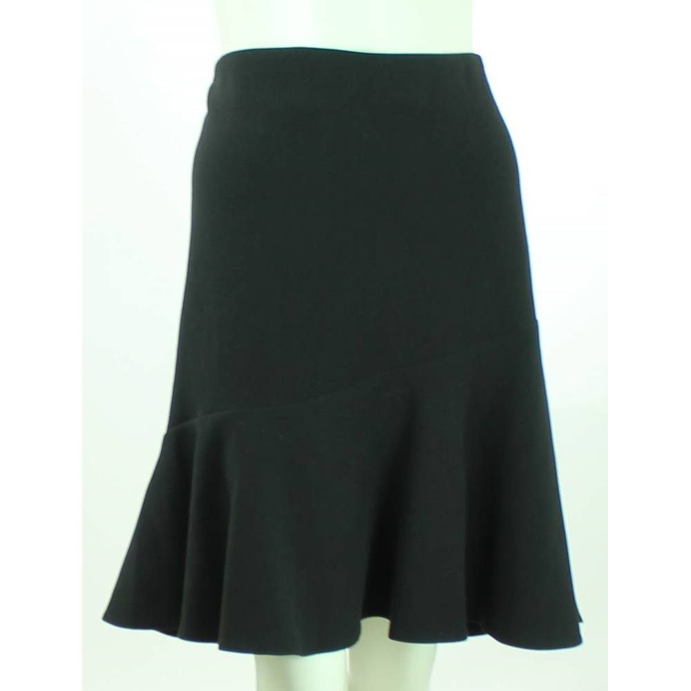 9c206e9671b BNWOT M S Collection - Size  20 - Black - Frill Knee Length Skirt. Loading  zoom