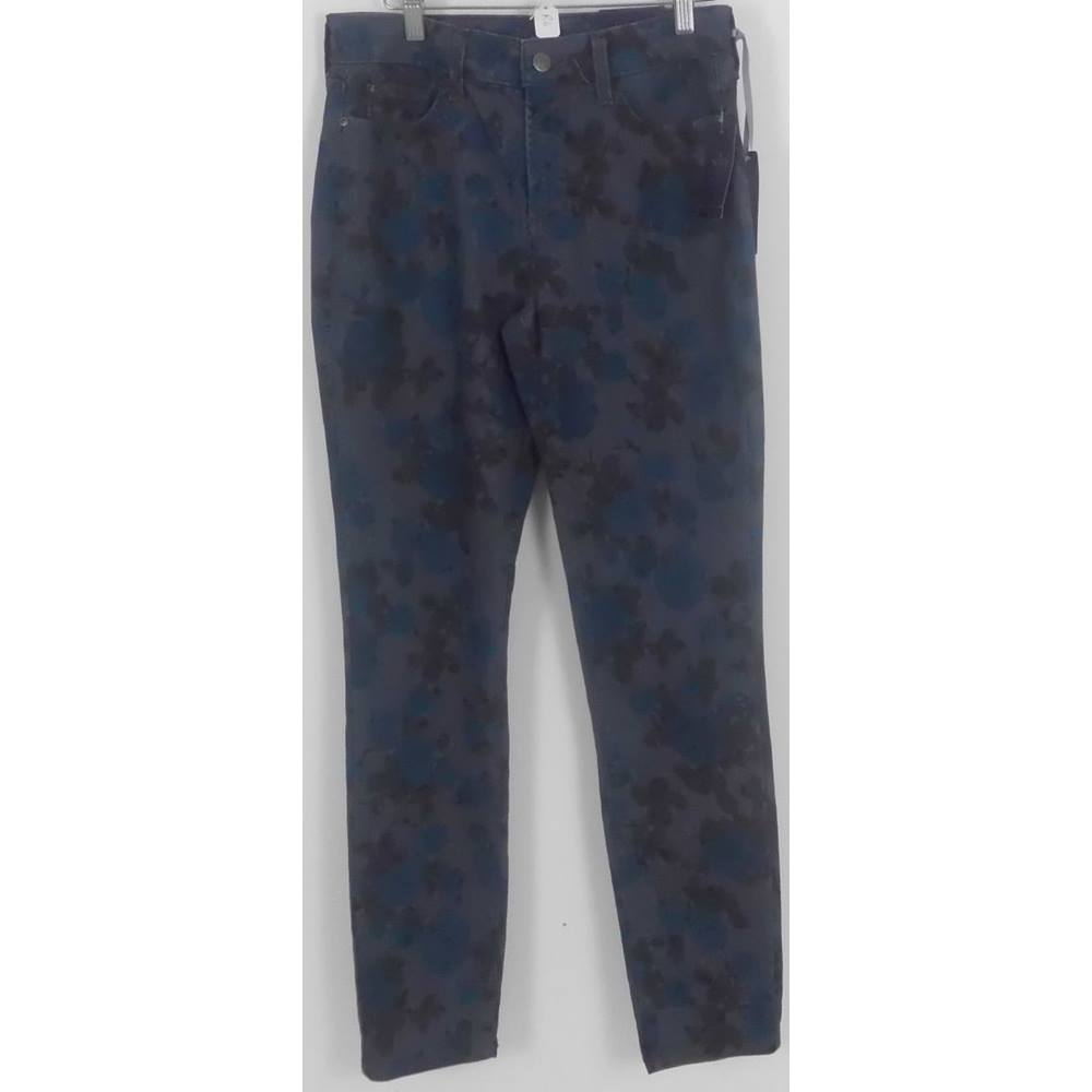 BNWT N Y D J Grey Stretch 'Floral Patterned Slim Fit Jeans Size 10 for sale  Batley
