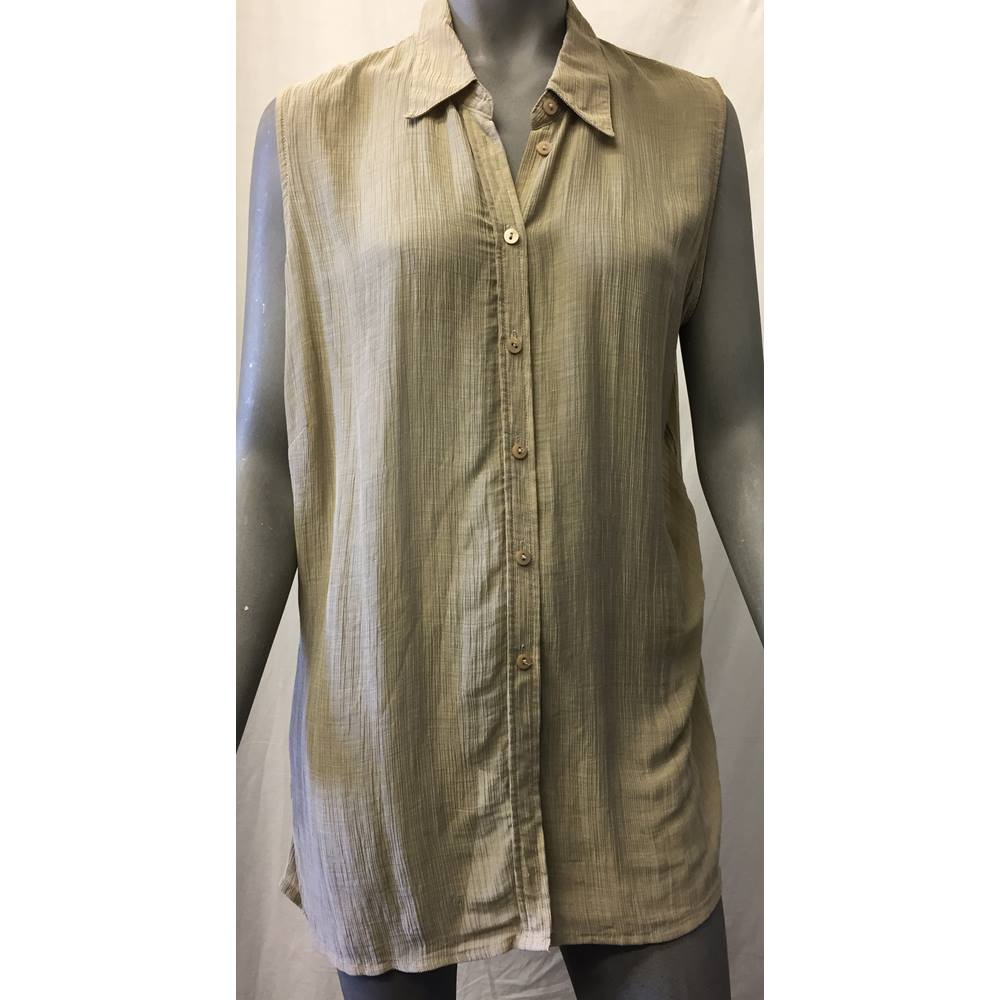 91a430542b Vintage M&S - Size: 20 - Beige / Sepia - Sleeveless top | Oxfam GB ...