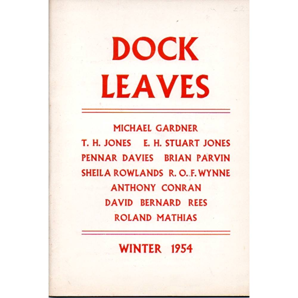 Preview of the first image of Dock Leaves Welsh poetry magazine - Winter 1954.