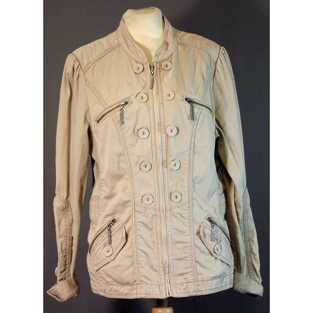 Jasper Conran 'J Jeans' size 12 casual short jacket in sand coloured cotton. for sale  Southampton