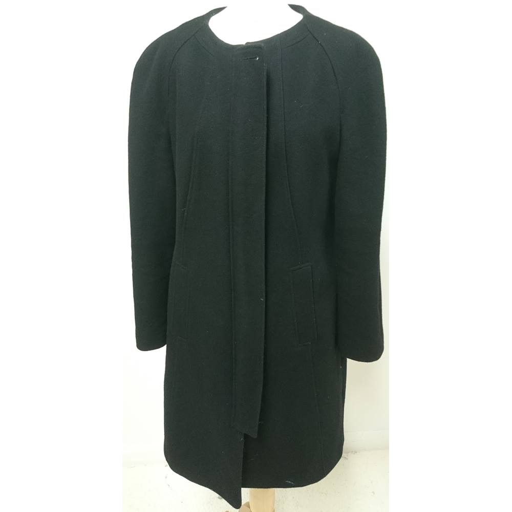 b9a8c5ab650 Planet Black Coat Size 16
