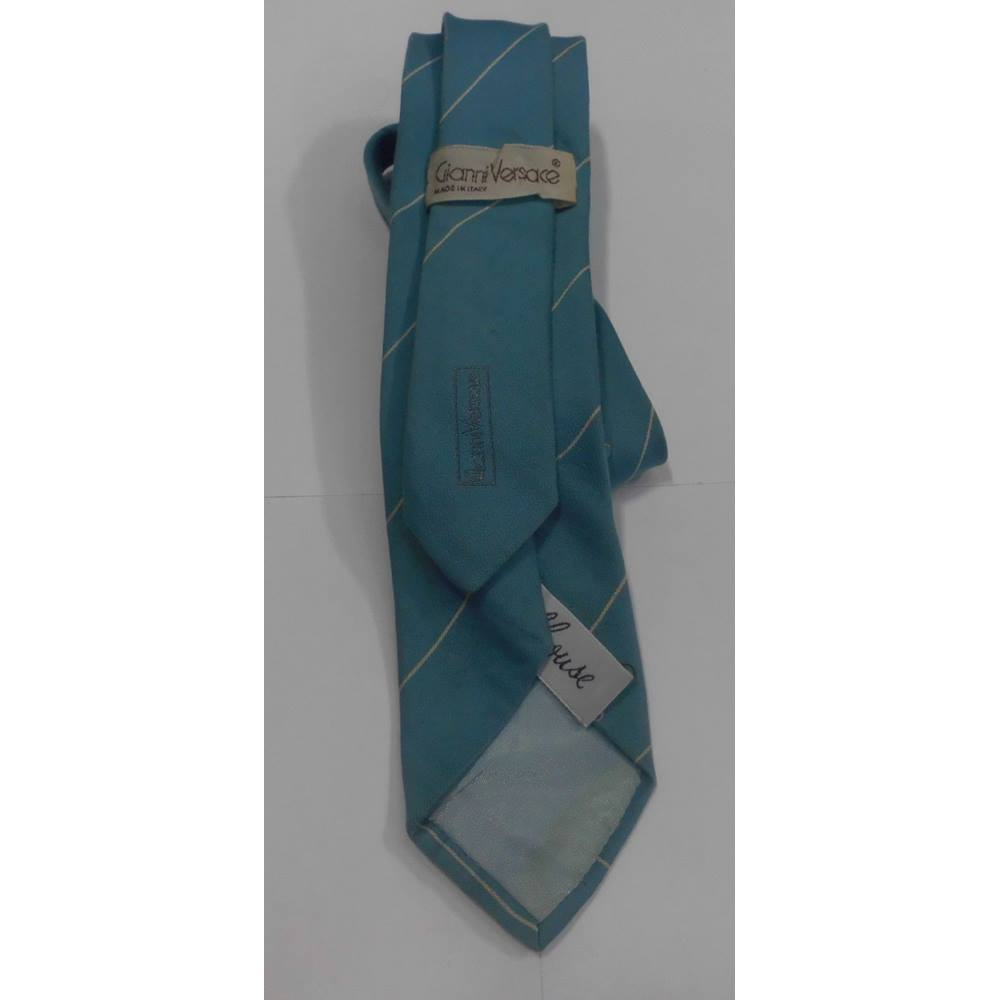 ad9f79cc86ea Gianni Versace Powder Blue   White Stripe Tie