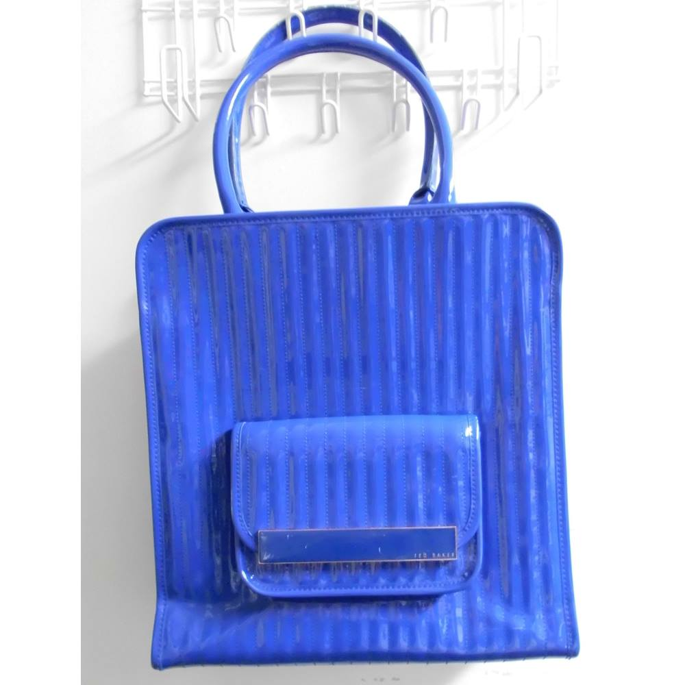 e65f5cb98e49 Ted Baker large hand tote bag - blue Ted Baker - Size  XL - Blue ...