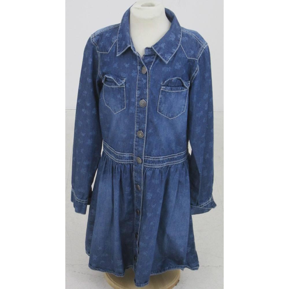 3bc7f78946 Next Size  12 Years Blue denim dress