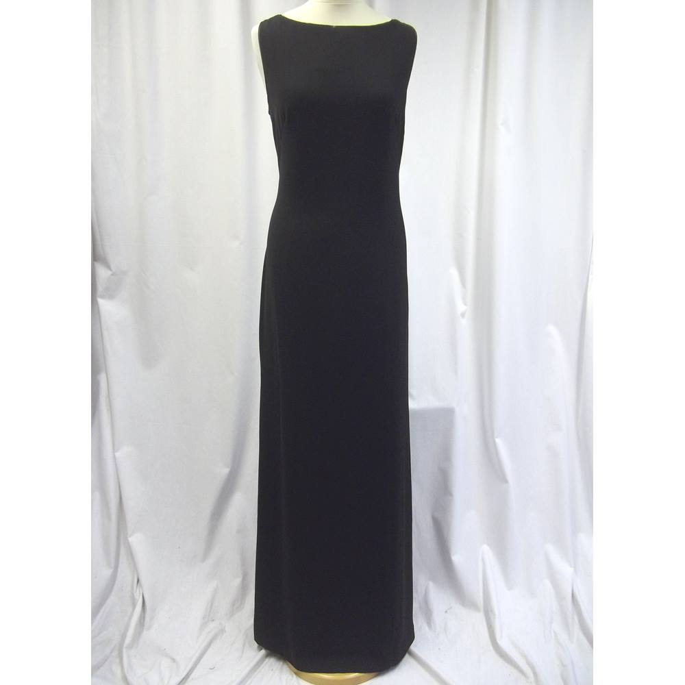 386ad5228 Ted Baker Size 14 Black Beaded Detail Evening Dress