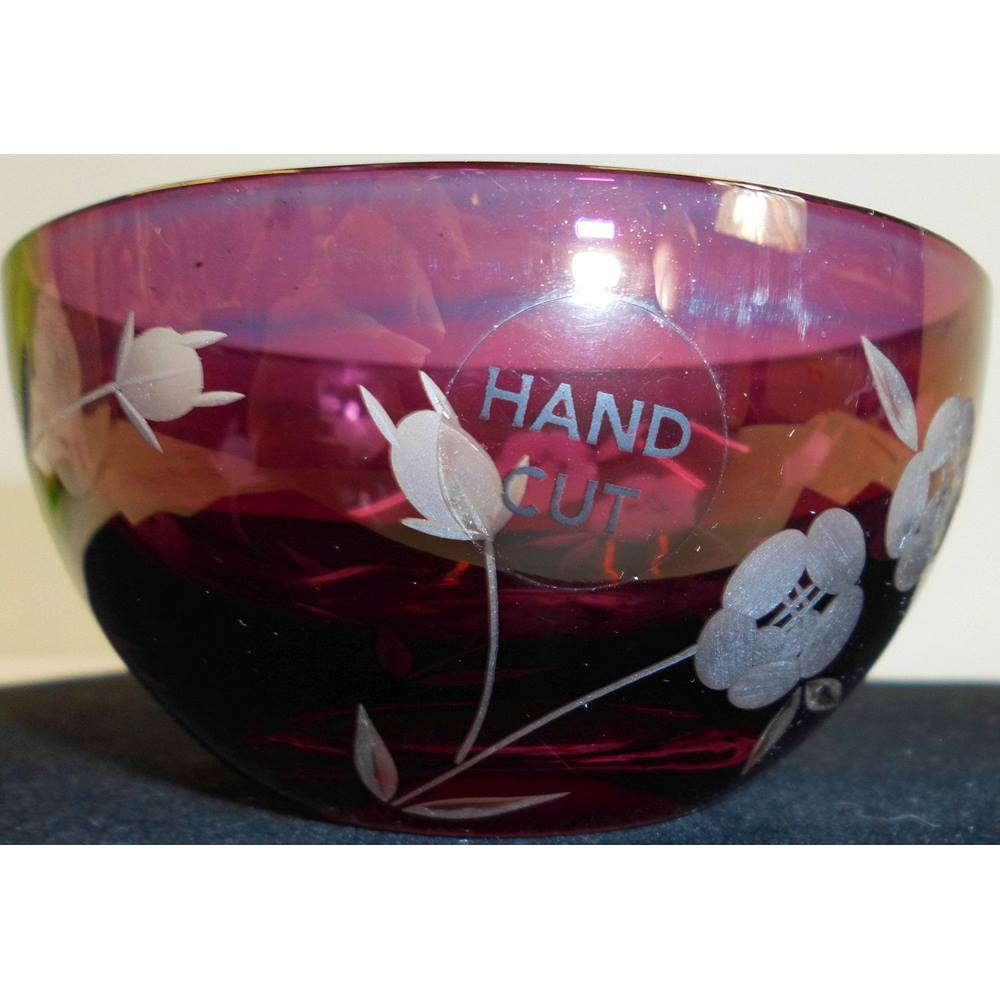 Glass Multi Colour Glass Bowl Art Glass