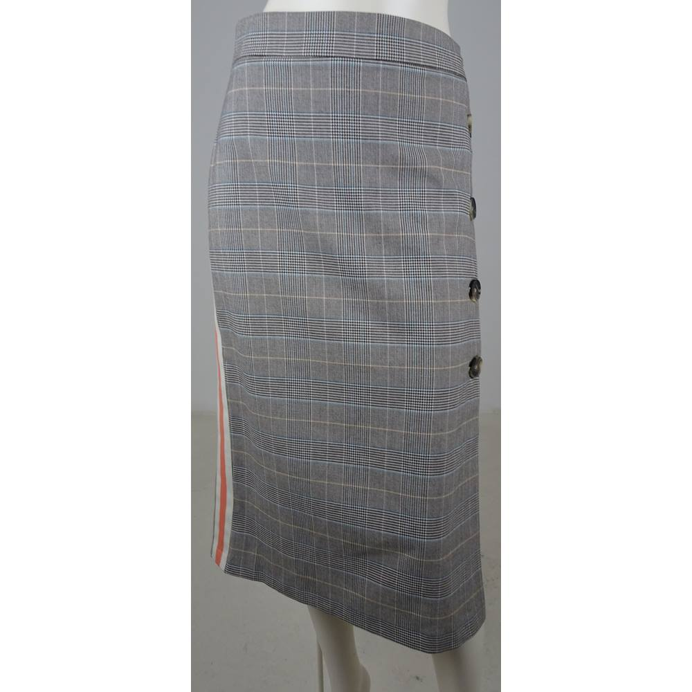 4f0d21c73a20d NWOT Marks   Spencer LIMITED EDITION Brown Check Calf-Length Skirt ...